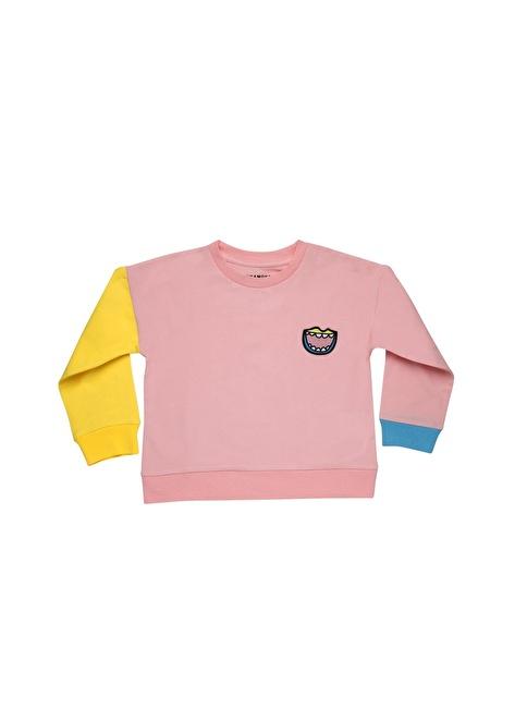 Wakamono Sweatshirt Pembe